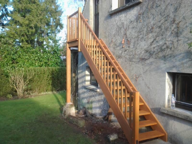 Escalier Droit Exterieur Avec Palier 2